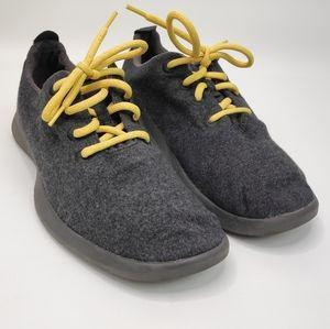Allbirds The Wool Runner Gray Merino Yellow Laces